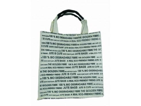 NEWSPAPER PRINT SHOPPERS BAG (WHITE & BLACK)