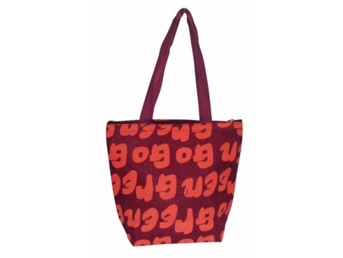 PRINTED DESIGNER LADIES TOTES (RED & ORANGE PRINT)