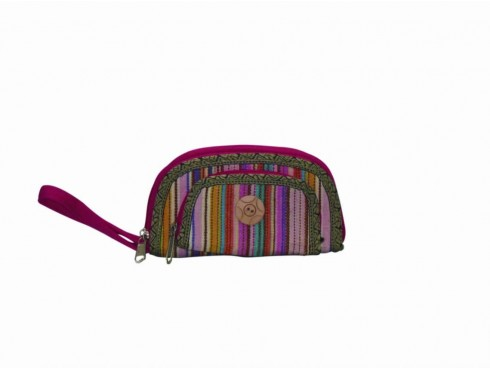 DESIGNER LADIES PURSE (MULTICOLOUR CENTER BUTTON)