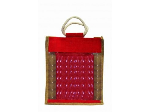 DESIGNER SHOPPERS BAG SB-36 (RED)