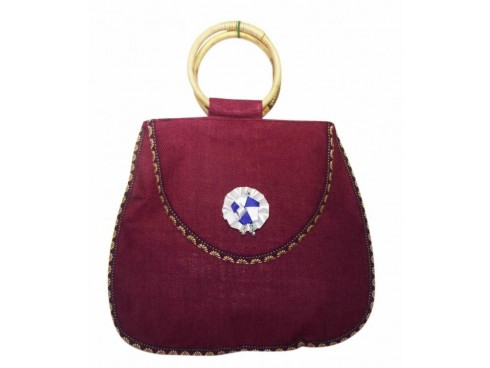 DESIGNER LADIES HANDBAG WITH RINGS SB-49 (PURPLE)