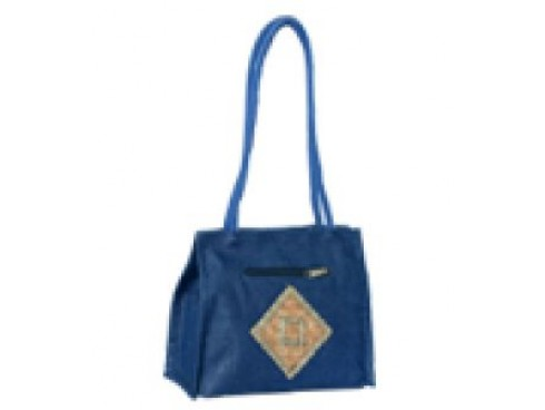 DESIGNER LADEIS TOTES WITH DIAMOND PATCH (BLUE)