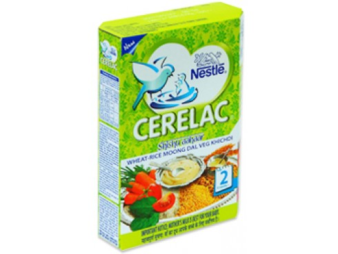 Nestle Cerelac - Wheat Rice Moong Dal Veg Kichdi (Stage 2 for 8 months & above), 300 gm Carton