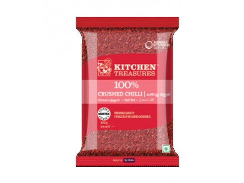 KITCHEN TREASURES CRUSHED CHILLY 100 GM