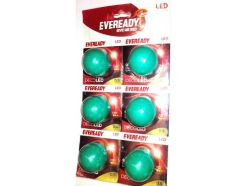 Eveready 0.5 W LED Bulb(Green, Pack of 6)