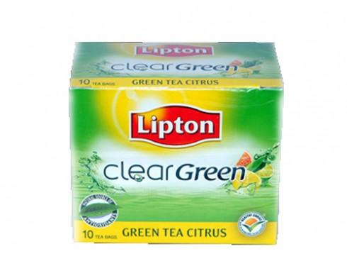 LIPTON CLEAR GREEN TEA PURE 10 BAG'S 13GM