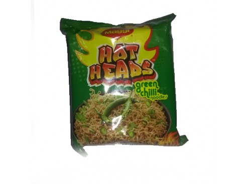 MAGGI  HOT HEADS GREEN CHILLI NOODLES 71 GMS