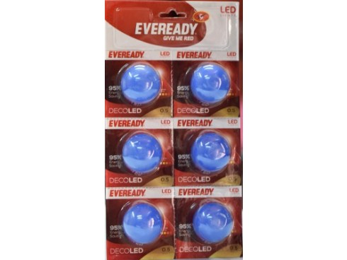 Eveready 0.5 W LED Bulb(Multicolor, Pack of 6)