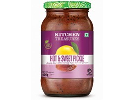 KITCHEN TREASURES HOT& SWEET PICKLE 400 GM