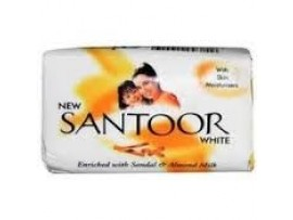 SANTOOR WHITE SOAP 90GM