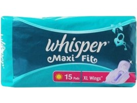 WHISPER MAXI EXTRA LARGE WING 15'S PADS