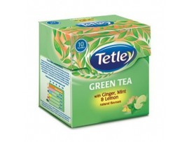 TETLEY GREEN TEA BAGS GINGER MINT LEMON