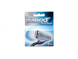 GILLETTE MACH3 TURBO RAZOR BLADE CARTRIDGES 2S