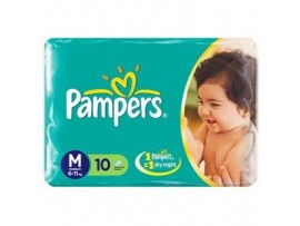 PAMPERS DIAPERS MEDIUM 10'S