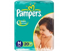 PAMPERS DIAPERS MEDIUM 20'S