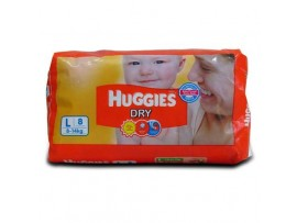 HUGGIES DRY LARGE 10's