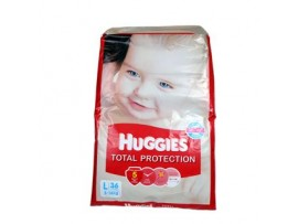 HUGGIES TOTAL PROTECTION DIAPERS LARGE 36'S
