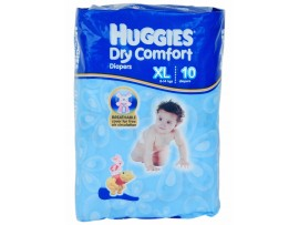 HUGGIES DRY XTRA LARGE 10's