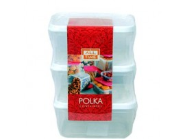 ALL TIME POLKA CONTAINER NO.22 (3PCS SET)