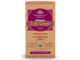 ORGANIC TULSI TEA GINGER 25 TEA BAGS BOX