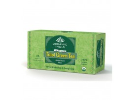 ORGANIC TULSI TEA GREEN 25 TEA BAGS BOX