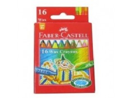 FABER CASTELL WAX CRAYONS 75MM 16 SHADES