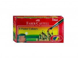 FABER CASTELL POSTER COLOURS 10ML 6 SHADES BOX