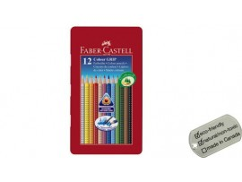 FABER CASTELL COLOUR ME GRIP PENCILS 12 SHADES