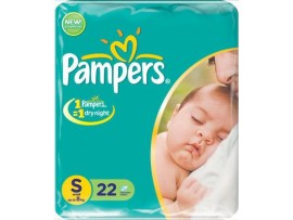PAMPERS A B NEW BORN SMALL 22'S