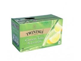 TWININGS GREEN TEA LEMON 25 TEA BAG