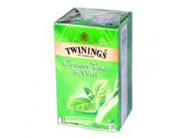 TWININGS GREEN TEA MINT 25 TEA BAG