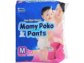 MAMY POKO PANTS DIAPER MEDIUM SIZE 20'S