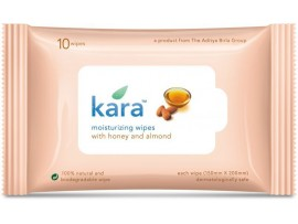 KARA MOSITURIZING WIPE ALMOND HONEY 10'S