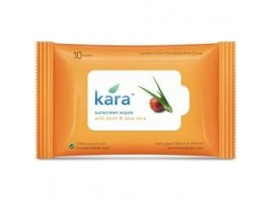 KARA SUNSCREEN WIPES PLUM & ALOE VERA 10'S
