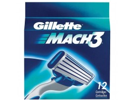 GILLETTE MACH3 RAZOR BLADE CARTRIDGES 12S