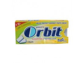 WRIGLEY'S ORBIT LIME SUGAR FREE 5.5GM