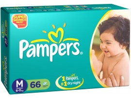PAMPER DIAPER MEDIUM 66'S