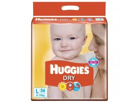 HUGGIES NEW DRY LARGE 4x56Nos RL