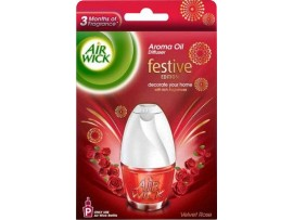 AIRWICK ELECTRICAL PLUG IN AIR FRESHNER REFILL ROSE 15ML