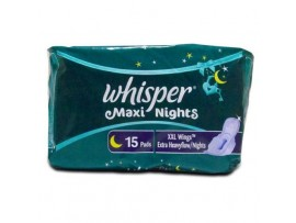 WHISPER MAXI XXL WINGS 15'S PADS