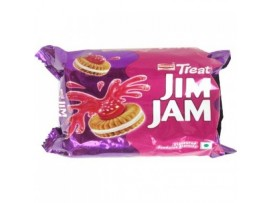 BRITANNIA TREAT JIM JAM CREAM BISCUIT 150GM