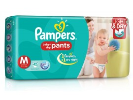 PAMPERS PANTS MEDIUM 42'S