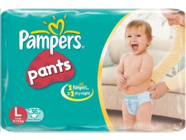 PAMPERS PANTS LARGE 36'S