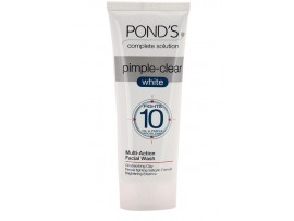 POND'S PIMPLE CLEAR WHITE FACE WASH & SCRUB 100GM