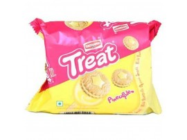 BRITANNIA TREAT PINEAPPLE CREAM BISCUIT 64GM