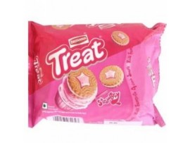 BRITANNIA TREAT STRAWBERRY CREAM BISCUIT 145GM