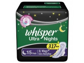 WHISPER ULTRA NIGHTS XL WING HEAVYFLOW 15'S PADS
