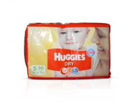 HUGGIES NEW DRY SMALL 30X6