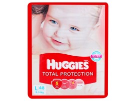 HUGGIES TOTAL PROTECTION LARGE 48'S