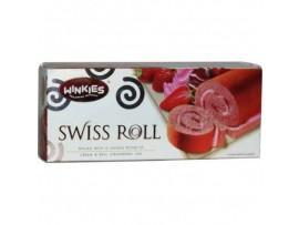 WINKIES SWISS ROLL CREAM & STRAWBERRY JAM